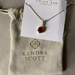 Kendra Scott red adjustable necklace